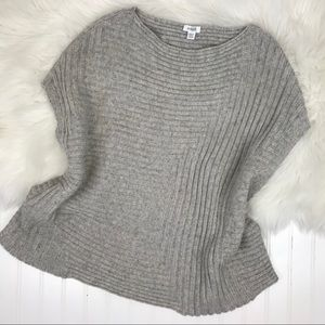 PURE J. JILL gray XS oversized poncho sweater!